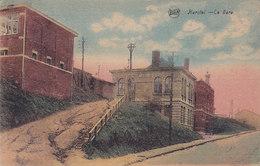 Herstal - La Gare (colorisée, Legia, Timbre Taxe, 1933) - Herstal