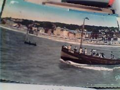FRANCE 14 TROUVILLE EN CALVADOS PROMENADE EN MER ET PLAGE  V1955 FX10159 - Trouville
