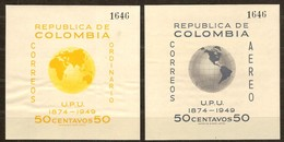 Colombia Colombie 1950  Yvertn° Bloc 4-5 *** MNH Neuf Cote 13 Euro UPU - Colombie