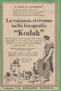 Kodak Pubblicità Adversing 1926 - Autres