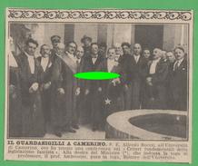Camerino Visita Del Guardasigilli 1926 - Libros, Revistas, Cómics