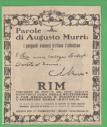 Purgante Rim Del Dott. Murri 1926 - Salute E Bellezza