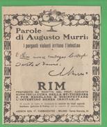 Purgante Rim Del Dott. Murri 1926 - Health & Beauty