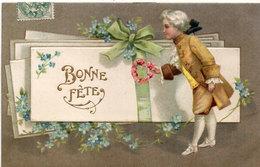 CPA Gaufrée Rehaussée Or  - Bonne Fete - Fleurs - Art Nouveau  (94066) - Autres