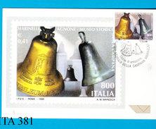 ITALIA, 1999, Museo Campana Marinelli, Cartolina Ufficiale Primo Giorno Emissione,nuova - 6. 1946-.. Repubblica
