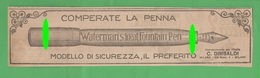Penna Waterman's Pen Adversing Pubblicità 1923 - Altri