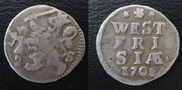 WEST FRIESLAND - WEST FRISIA / PAYS-BAS - NETHERLANDS / 2 STUIVERS 1708 ARGENT - [ 1] …-1795 : Période Ancienne