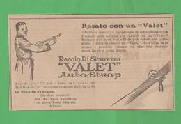 Pubblicità Rasoi Valet  Adversing  1923 - Salute E Bellezza