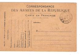 CP En Franchise Correspondance Armées République C.Trésors Et Postes 88 6/10/1916 V.Avranches PR3876 - Marcophilie (Lettres)