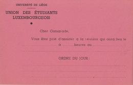 Carte étudiant Université De Liège Union Des étudiants Luxembourgeois - Historical Documents