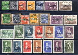 FINLAND: EASTERN KARELIA 1941-43 Complete Issues, Used.  Michel 1-28 - Used Stamps