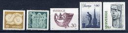 SWEDEN 1976 Definitive: Art And Crafts MNH / **.  Michel 954-58 - Sweden