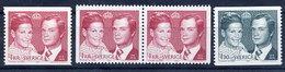 SWEDEN 1976 Royal Wedding MNH / **.  Michel 952-53 - Sweden