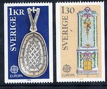 SWEDEN 1976 Europa: Handicrafts MNH / **.  Michel 943-44 - Sweden