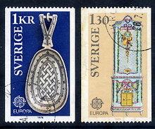 SWEDEN 1976 Europa: Handicrafts Used.  Michel 943-44 - Sweden