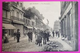 Cpa Firminy Rue Nationale En Travaux Carte Postale 42 Loire Proche St Etienne Monistrol Chambles Andrézieux Bouthéon - Firminy