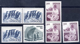 SWEDEN 1976 Definitives MNH / **.  Michel 936-38 - Schweden