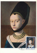 D28192 CARTE MAXIMUM CARD 1973 BELGIUM - YOUNG WOMAN BY PETRUS CRISTUS 15th CENTURY CP ORIGINAL - Art