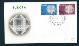 FDC  -  EUROPA CEPT  -  1970  -  BELGIUM    **   ----- - FDC