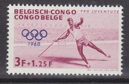 Belgisch Congo 1960 Olympische Spelen 3fr Polstokwerpen 1w ** Mnh (34311B) - Belgisch-Kongo