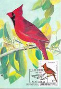 HUNGAR  BUDAPEST  Les Oiseaux D'Audubon   Le Cardinal Rouge Richmondena Cardinalis  19/06/85