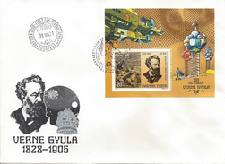 HUNGARY-1978.FDC S/S - Jules Verne,writer / Voyage From Earth To Moon  MNH!  Mi.Bl.133. - FDC