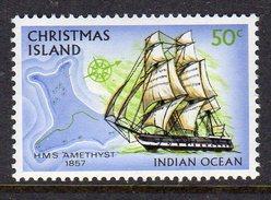CHRISTMAS ISLAND - 1972 50c TRIADIC FREIGHTER SHIP STAMP FINE MNH ** SG 51 - Christmas Island