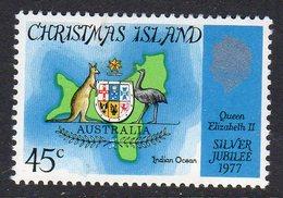 CHRISTMAS ISLAND - 1977 SILVER JUBILEE STAMP FINE MNH ** SG 83 - Christmas Island