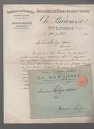 (sainter Livrade Lot Et Garonne) Lettre à Entête BAROUSSE  (toiles) Avec Son Enveloppe D'expedition 1902 (PPP4132) - Textile & Vestimentaire