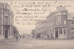 Herstal - Avenue Du Pont De Wandre (top Animation, Café, Malle Poste ?, 1907) - Herstal