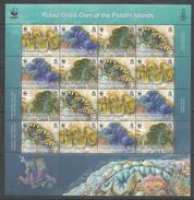 PITCAIRN ISLANDS - MNH - Animals - Marine Life - Fluted Giant Clam - WWF - Marine Life