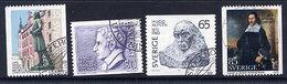 SWEDEN 1972 Personalities' Anniversaries.  Michel 742-45 - Sweden