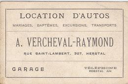 Herstal - Location D'Autos - Garage A. Vercheval-Raymond (dos Vierge) - Herstal