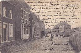 Herstal - Rue Voie De Liège (animée, Attelage, E. Dumont, 1908...réparée, Adhésif Au Dos) - Herstal