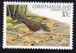 CHRISTMAS ISLAND - 1982 10c DEFINITIVE BIRD STAMP FINE MNH ** SG 157 - Christmas Island