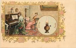 Ref N113- Illustrateur - Histoire - Eclairage Lampe A Petrole  -carte Bon Etat  - - Geschiedenis