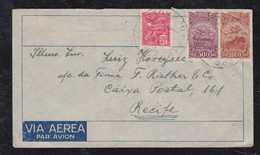 Brazil Brasil 1932 Airmail Cover AEROPOSTALE SAO PAULO To RECIFE - Luftpost