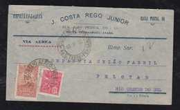 Brazil Brasil 1933 Airmail Cover RECIFE To PELOTAS - Aéreo