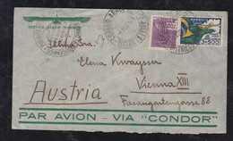Brazil Brasil 1935 CONDOR Airmail Cover RIO To VIENNA Austria - Airmail