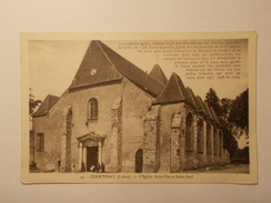 Carte Postale - COURTENAY (45) - L'Eglise St Pierre St Paul (1525/1000) - Courtenay