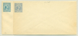Nederland - 1892 - 2x Envelop 5 Cent Wilhelmina Ultramarijn En Dofblauw, G5b En C Ongebruikt - Postal Stationery
