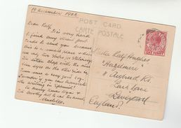 1922 GIBRALTAR Stamps COVER (postcard) To GB - Gibraltar