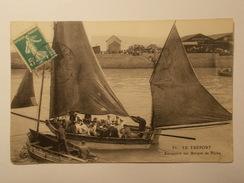 Carte Postale - LE TREPORT (76) - Excursion Sur Barque De Pêche  (1535/1000) - Le Treport