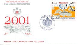 N°35 N -FDC (1er Jour) Monaco 2001 -exploration En Méditerranée- - FDC