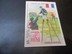 Chromo Collection La Poste, 5 Cm X 7.50 Cm, France Pyrenees - Trade Cards