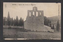 DF / 11 AUDE / RIVEL / EGLISE SAINTE-CÉCILE ET CIMETIÈRE / CIRCULÉE EN 1927 - Autres Communes