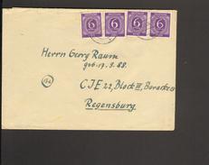 Alli.Bes 4 X 6 Pfg.Ziffer Auf Fernbrief An Civil-Internierten Im Lager Regensburg Vom Okt.1946 - Gemeinschaftsausgaben