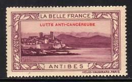 VIGNETTE NEUVE ** LA BELLE FRANCE - LUTTE ANTI-CANCEREUSE - ANTIBES - Commemorative Labels