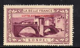 VIGNETTE NEUVE ** LA BELLE FRANCE - LUTTE ANTI-CANCEREUSE - SOSPEL - Tourisme (Vignettes)