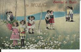 GISCA149  - SALUTI E BACI DA MOENA - TRENTO - F.P. VIAGGIATA 1927 - Other Cities